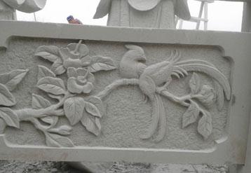 白砂岩栏杆雕刻