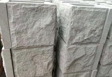 米白砂岩拐角蘑菇石