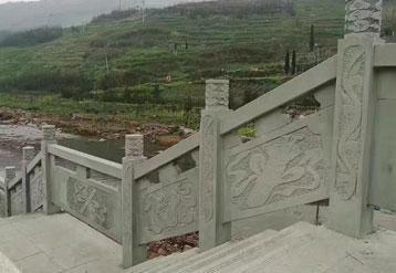 青砂岩栏杆