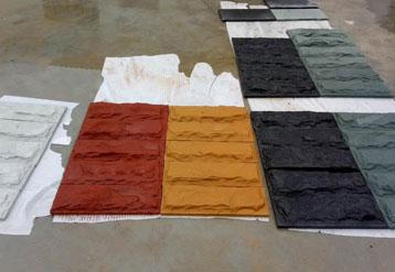 多色砂岩拼图展示