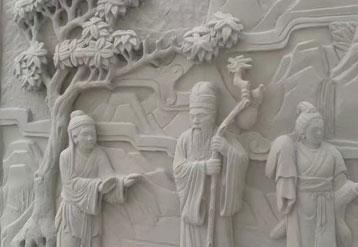 灰白砂岩雕刻图