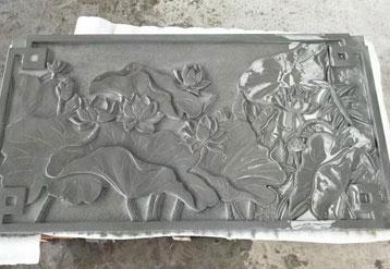 灰白砂岩雕刻实拍图