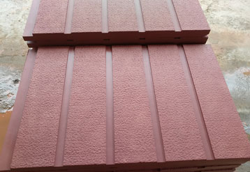 自贡红砂岩板材展示