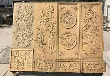四川黄金砂岩雕刻实拍图